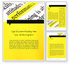 Business Concepts: Performance Definition Word Template #11685