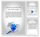 Consulting: Puzzle Piece in a Box Word Template #11694