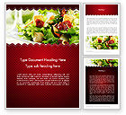 Food & Beverage: Fresh Salad Word Template #11699
