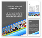 People: Positive Youth Word Template #11700