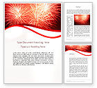 Holiday/Special Occasion: Bright Fireworks Word Template #11715