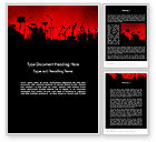 Art & Entertainment: Rock Concert Word Template #11718