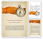 Business: Compass on Parchment Word Template #11732