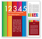Education & Training: Colorful Numbers Word Template #11748