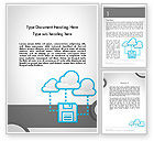 Technology, Science & Computers: Cloud Storage Word Template #11764