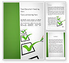 Education & Training: Checkbox Word Template #11765