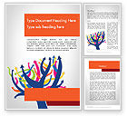 Business Concepts: Different Directions Word Template #11772