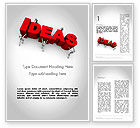 Business Concepts: Pushing Ideas Word Template #11785