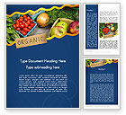 Food & Beverage: Organic Foods Word Template #11787