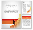 Education & Training: Walking Upward Word Template #11789