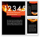 Education & Training: Numbers on Fire Word Template #11791