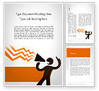 Careers/Industry: Guy with Megaphone Word Template #11793