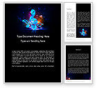Art & Entertainment: Colorful Music Notes Word Template #11816