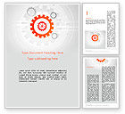 Business Concepts: Flat Design Gears Word Template #11828