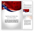 America: Red White and Pure Word Template #11832