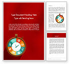 Business Concepts: Flat Stopwatch Word Template #11835