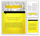 Education & Training: Happiness is a Choice Word Template #11839