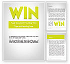 Business Concepts: Word WIN Word Template #11840