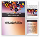 Careers/Industry: Flat Design Icons Word Template #11844