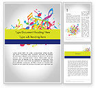 Art & Entertainment: Colorful Tunes Word Template #11849
