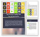 Careers/Industry: Flat Icons Design Word Template #11854