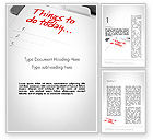 Business Concepts: Things To Do List Word Template #11861