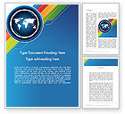 Global: World Map and Colorful Stripes Word Template #11871