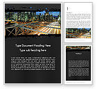 Construction: Brooklyn Bridge New York Word Template #11876