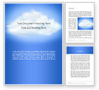 Nature & Environment: Fluffy Cumulus Cloud Word Template #11881