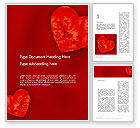 Holiday/Special Occasion: Pair of Hearts Word Template #11886
