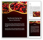 Food & Beverage: Cranberries Word Template #11888