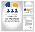 Business Concepts: Chat Word Template #11889