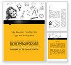 Education & Training: School Girl Word Template #11897