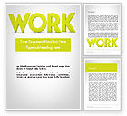 Business Concepts: Word WORK Word Template #11898