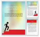 Careers/Industry: Stickman Walking Upstairs Word Template #11899