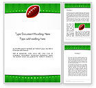Sports: Super Bowl Theme Word Template #11908