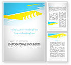 Abstract/Textures: Abstract Acute Angles Word Template #11923