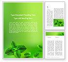 Food & Beverage: Minze grünen hintergrund Word Vorlage #11927
