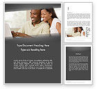 People: Couple on Laptop Word Template #11945