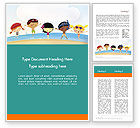 Education & Training: Summer Fun Word Template #11950