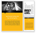 Education & Training: Reading Under Covers Word Template #11958