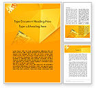 Financial/Accounting: Financial Yellow Origami Word Template #11966