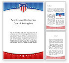 America: Patriotic Background Word Template #11971