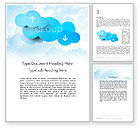 Technology, Science & Computers: Cloud Technology Concept Word Template #11977