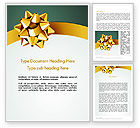 Holiday/Special Occasion: Gold Ribbon Word Template #11979