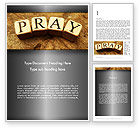 Religious/Spiritual: Time to Pray Word Template #11984