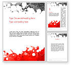 Abstract/Textures: Gray and Red Rings Word Template #11992