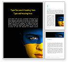 Flags/International: Modelo do Word - bandeira da ucrânia #11993