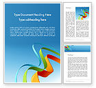 Abstract/Textures: Colorful Stripe Banners Word Template #11994