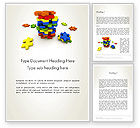 Business Concepts: Pile of Puzzle Pieces Word Template #12001